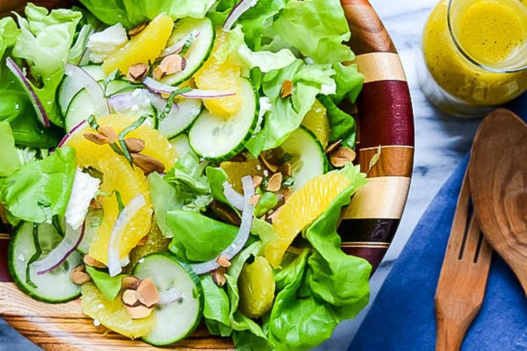 Simple Citrus Almond Salad