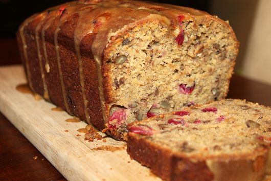 Cranberry-Pecan Banana Bread