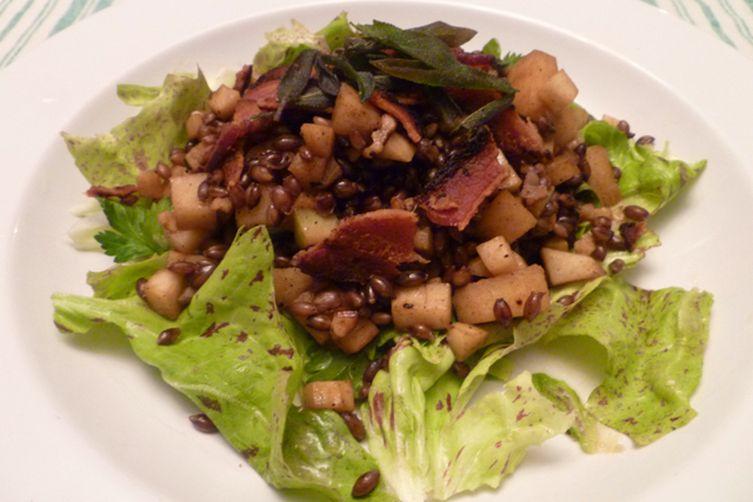 Barley Salad with Apples, Walnuts, and Deep Fried Sage