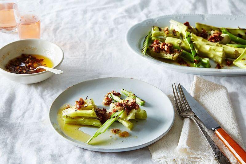 Broccoli Marrow with Pecan Garlic Butter