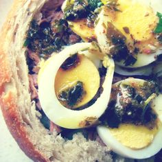 A Pan Bagnat with Warm Anchovy Vinaigrette