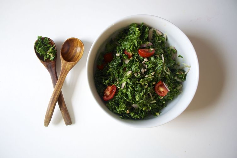 Raw Kale Avocado Salad