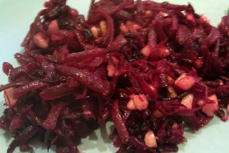 Shredded Beets with Walnuts