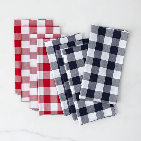 Gingham Cloth Napkins (Set of 4)