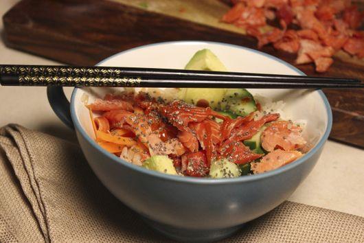 Smoked Salmon Sushi Bowls