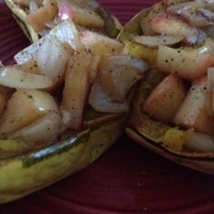 Onion Apple Stuffed Delicata Squash