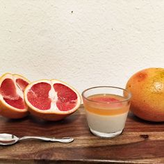 Coconut Panna Cotta with Grapefruit Gelee