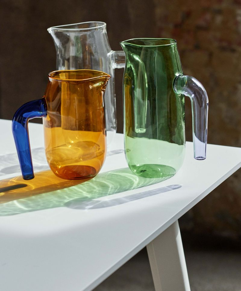 Glass jugs, $35-$45