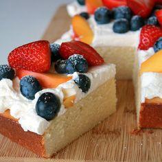 Summer fruit chiffon cake