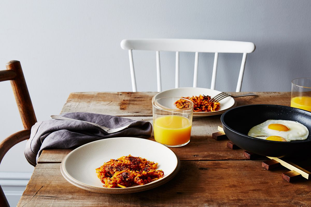 Sweet potato maple hash browns recipe for Table 52 brunch menu