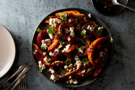 Orange Vegetable Pileup with Homemade Cottage Cheese