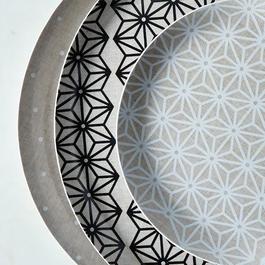 Melamine & Linen Circular Platter
