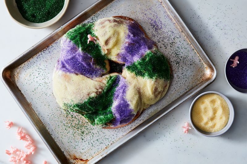 King Cake With Cream Cheese Dough