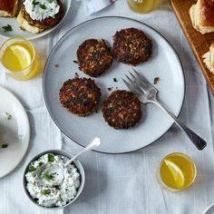 Wild Rice Veggie Sliders with Herbed Ricotta