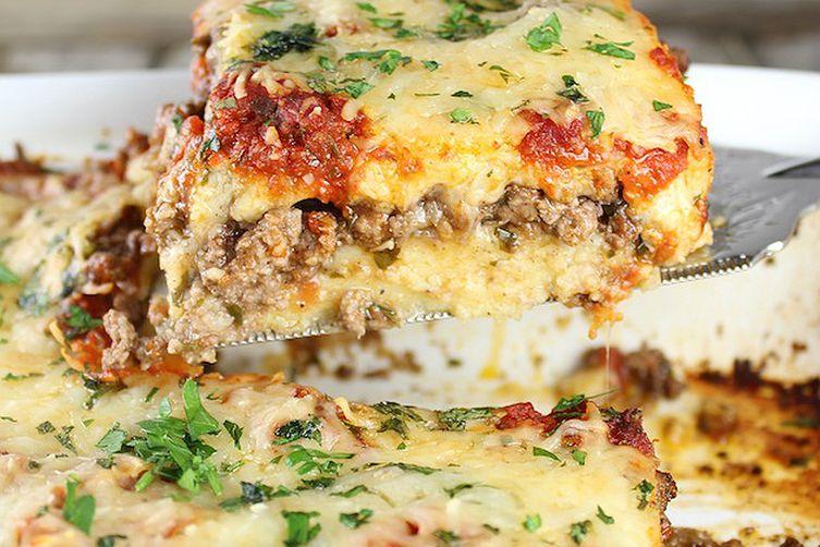 Lamb Lasagna with Parmesan Polenta