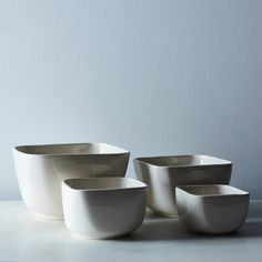 Square Porcelain Nested Mixing Bowl Set