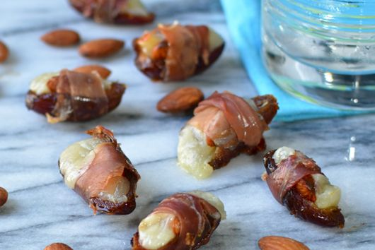 manchego and almond stuffed dates