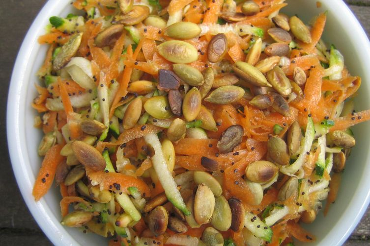 Carrot and Zucchini Salad with Seeds