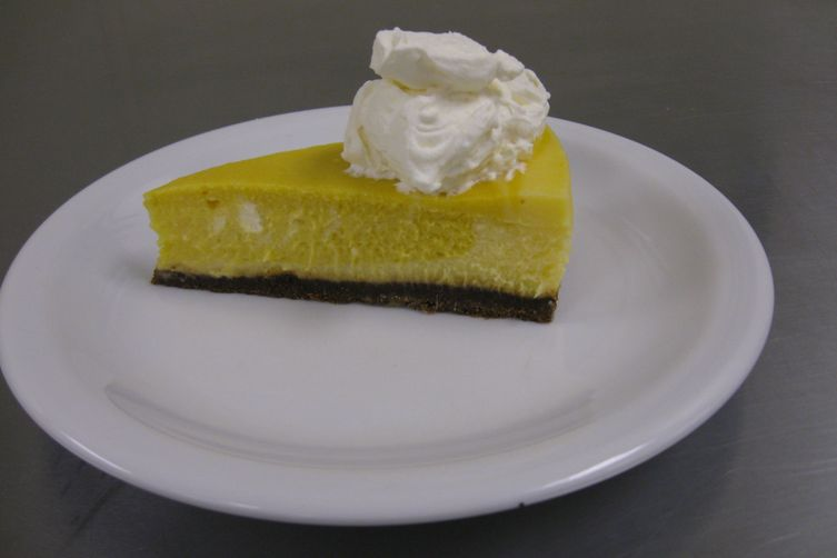 Mango-Lime Marbled Cheesecake with G.F.G.S. Crust