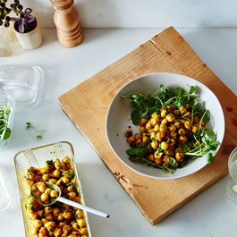 chickpea salad curried by Mary Little