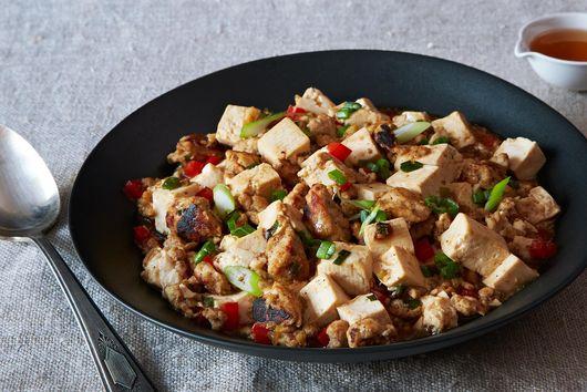 Ma Po Tofu (Stir-Fried Bean Curd with Ground Turkey or Vegan ground)