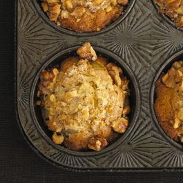 Pear Ginger Walnut Muffins