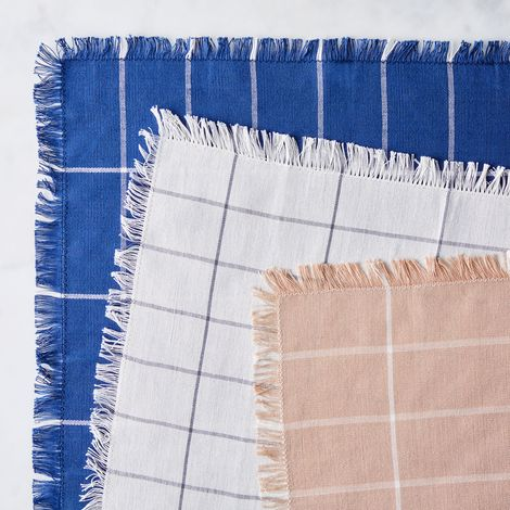 Handwoven Grid Napkins (Set of 4)