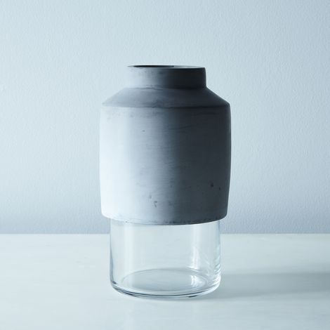 Glass & Concrete Vase