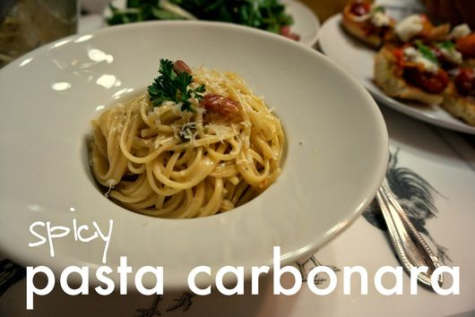 Spicy Pasta Carbonara