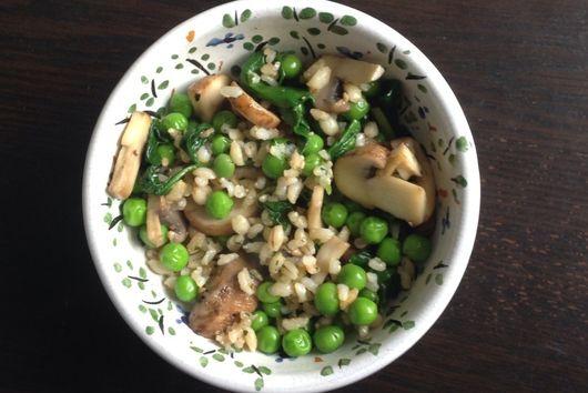 Japanese Spinach and Mushroom Bowl
