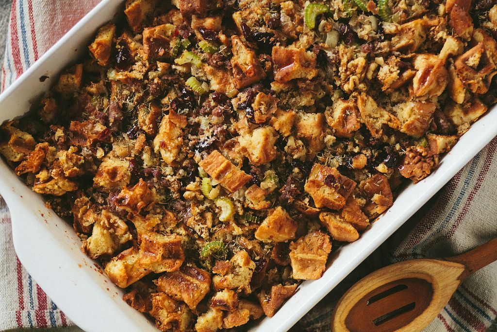 Waffle Stuffing with Sausage