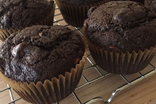 Cocoa, Chocolately, Muffins