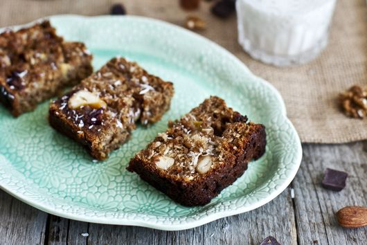 GLUTEN-FREE BANANA COCONUT LOAF WITH PRANA'S KILIMANJARO TRAIL MIX