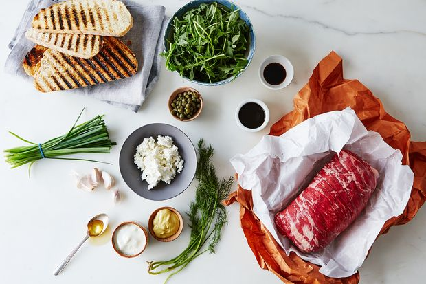 Herbed Feta and Steak Sandwich