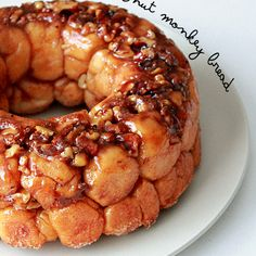 Caramel walnut monkey bread