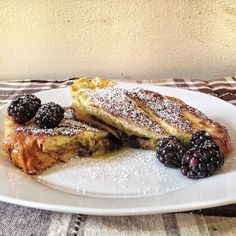 Pistachio Mascarpone and Blackberry Jam Stuffed French Toast