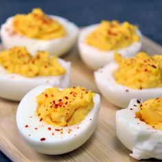 Spicy Deviled Eggs with Piment d'Espelette