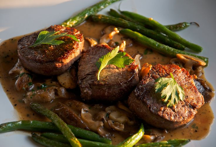 Valentine's Day Dinner for Two (Beef Medallions with Madeira Mushroom Sauce)