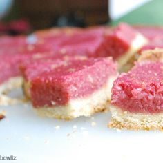 Raspberry Strawberry Lemonade Bars