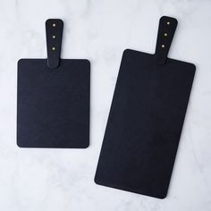 Matte Black & Brass Boards (Set of 2)