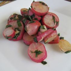 Pan Roasted Radishes with Shiso and Soy