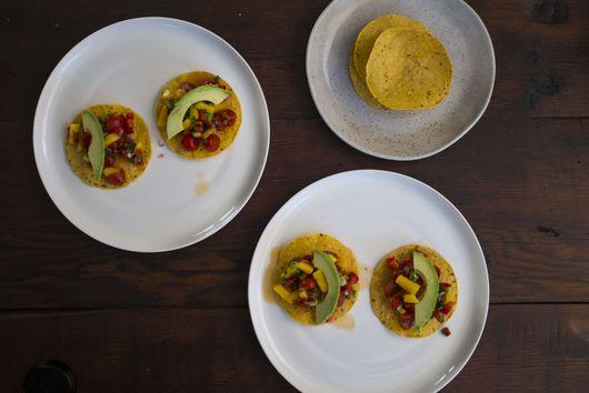 Easy vegan summer tostadas
