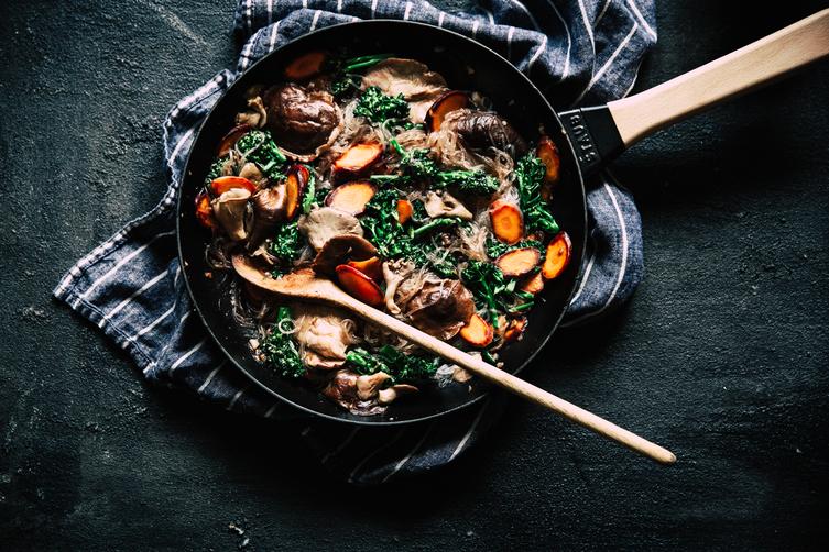 (Almost) One-Pan Vegetable Stir-Fry