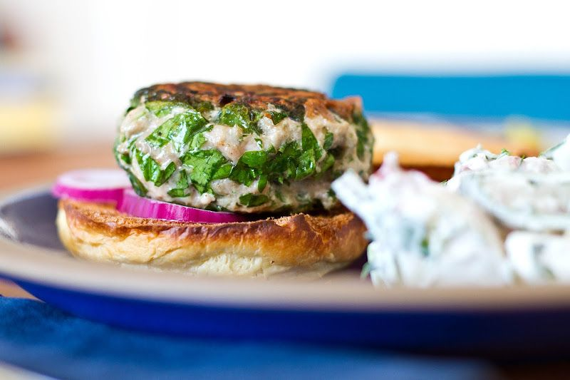 Turkey-Parsley Burgers