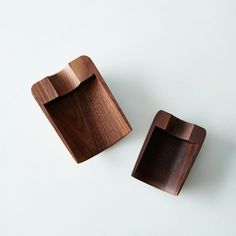 Walnut Nesting Scoop Set