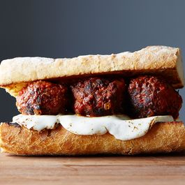 Chicken meatball sandwich by Pensawjones