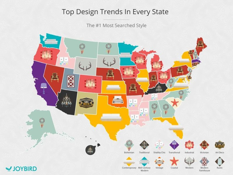 The Top Interior Design Trends, State by State