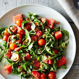 Watermelon, Tomato, and Four-Herb Salad