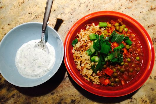 Middle Eastern peas and rice