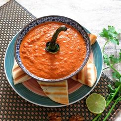 Muhammara / Roasted Bell Pepper and Walnut Dip
